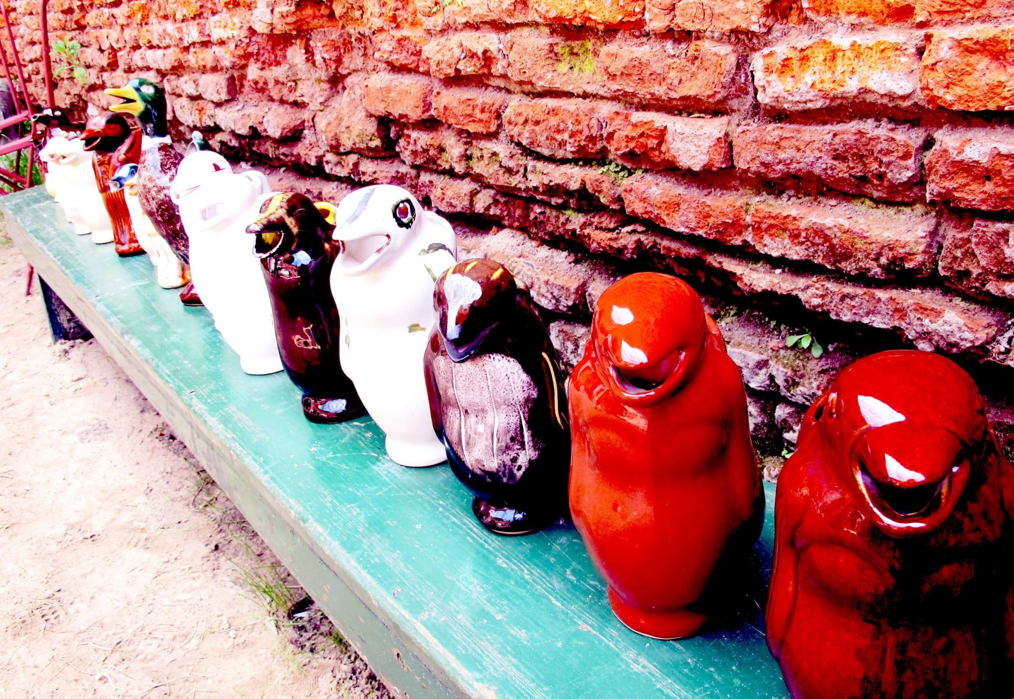 Pinguino esperando el vino suelto