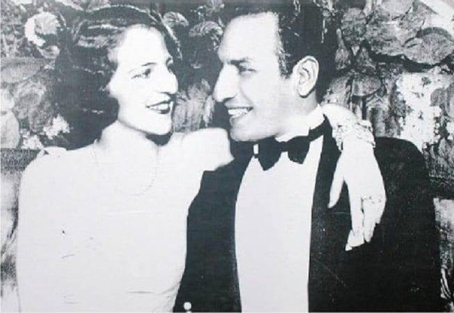 Barón Biza y Myriam Stefford